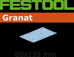 497126 Schuurstroken Granat STF 80x133 P400 GR/100