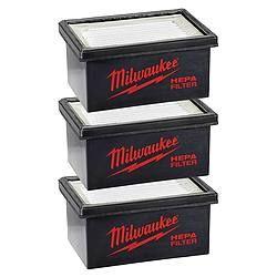 Hepa Filter 3 stuks voor Boorhamerafzuigset M12DE-M18-M28CPDEX en M18CDEX