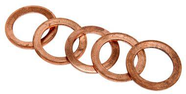 Koperen Ringen (5 Stuks)