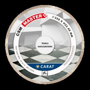 CSMM350400 CARAT Diamantzaagblad TEGELS Ø350x25,40MM, CSM MASTER
