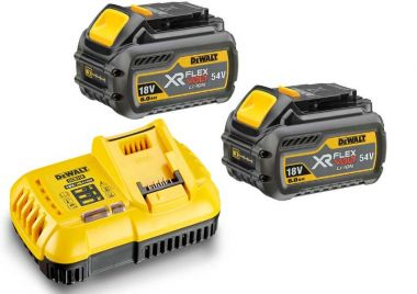 FlexVolt Starter Kit - 2 x FlexVolt accu 54V 6,0Ah Li-Ion + DCB118 Snellader