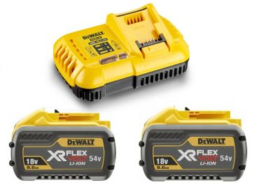 DCB118X2-QW FlexVolt Starter Kit - 2 x FlexVolt accu 54V 9,0Ah Li-Ion + DCB118 Snellader