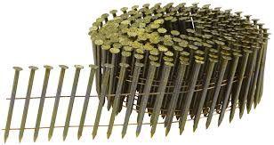 F-30971 Draadnagels op vlakke rol 2,9 x 50 mm Galva getordeerd Blank/geel gecoat 9000 stuks