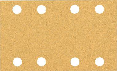 Expert C470 Schuurpapier met 8 gaten 80 x 133 mm, K80 10 stuks
