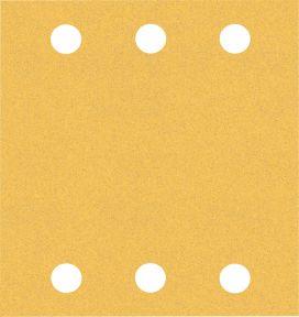 Expert C470 Schuurpapier met 6 gaten 115 x 107 mm, K120 10 stuks