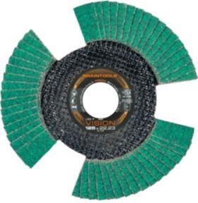 LSZ F Lamellenschijf Staal/Inox 125 x 22,23 mm K40