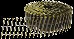 F-31359 Draadnagels op vlakke rol 3.4 x 75 mm glad Blank-geel gecoat - 3600 stuks