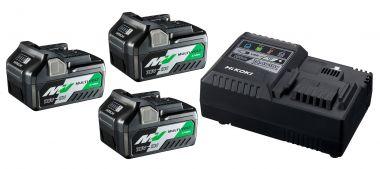 UC18YSL3WA3 BoosterPack - 3 x BSL36A18 Multivolt Accu 36V 2,5Ah/ 18V 5,0Ah Li-Ion + UC18YSL Snellader