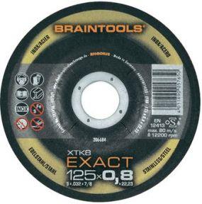XT8 Exact doorslijpschijf extra dun Metaal/Inox 125 x 0,8 x 22,23 mm