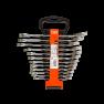 1RM/SH12 Steek-ringratelsleutels, metrisch 8-19 mm 12-delig