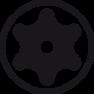 Schroevendraaier SoftFinish TORX®TamperResistant(metboring) met ronde schacht (01302) T20H x 100 mm