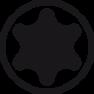 Schroevendraaierset SoftFinish electric slimFix TORX® 6-delig (36558)