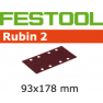 499066 Schuurstroken Rubin 2 STF 93x178/8 P150 RU/50