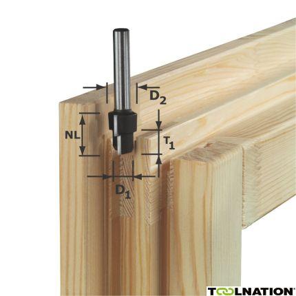 492714 Stappenfrees HW schacht 12 mm HW D20,3/12,3/6 S12