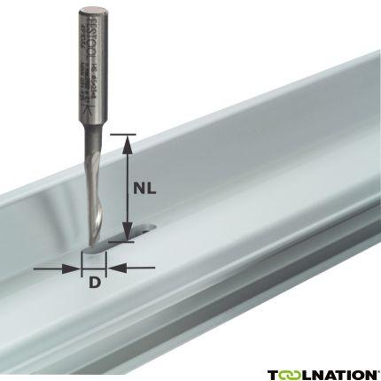 491036 Aluminiumfrees HS schacht 8 mm HS S8 D5/NL23