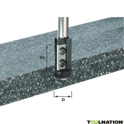 491120 Keermes-kantenfrees HW schacht 12 mm HW S12 D21/30WM