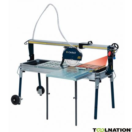 P-3512 Laser Steenzaagmachine + zijtafel + diamantzaagblad 230 Volt!