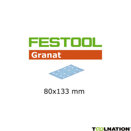 497117 Schuurstroken Granat STF 80x133 P40 GR50
