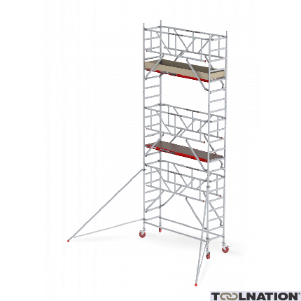 RS TOWER 41 PLUS-S 4,2m werkhoogte Hout 2.45 Safe-Quick Gevelvrij C411021