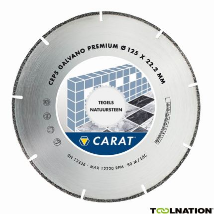 CEPS125300 Diamantzaagblad GALVANO PREMIUM 125x22.2MM, TYPE CEPS