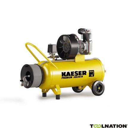 Premium 350/90W Zuigercompressor 230 Volt + Haspel incl. 20 mtr. luchtslang