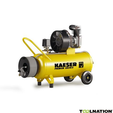 Premium 350/90D Zuigercompressor 400 Volt + Haspel incl. 20 mtr. luchtslang