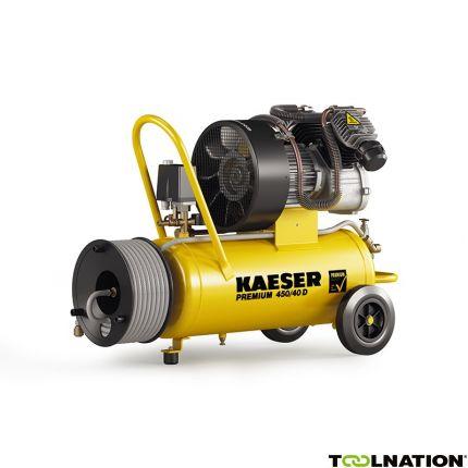 Premium 450/40D Zuigercompressor 400 Volt + Haspel incl. 20 mtr. luchtslang