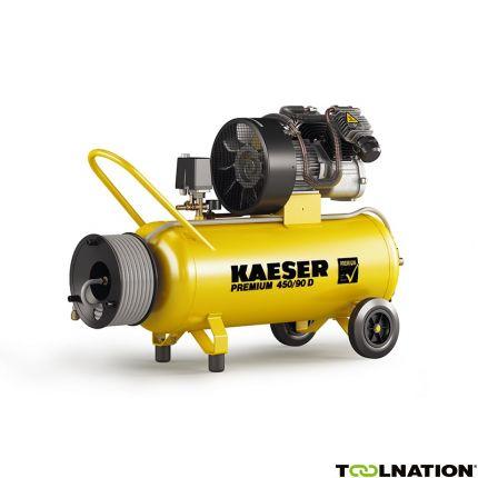 Premium 450/90D Zuigercompressor 400 Volt + Haspel incl. 20 mtr. luchtslang