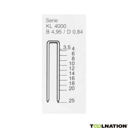 KL4025 CNK Niet 25 mm 5.000 stuks