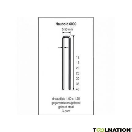 KL6012 CNK Nieten 12 mm Verzinkt 13500 stuks