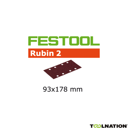 499063 Schuurstroken Rubin 2 STF 93x178/8 P80 RU/50