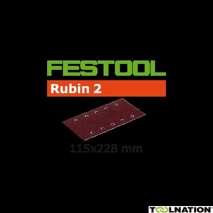 499031 Schuurstroken Rubin 2 STF 115x228/10 P60 RU/50