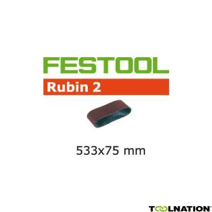 499157 Schuurband Rubin 2 BS75/533x75-P80 RU/10