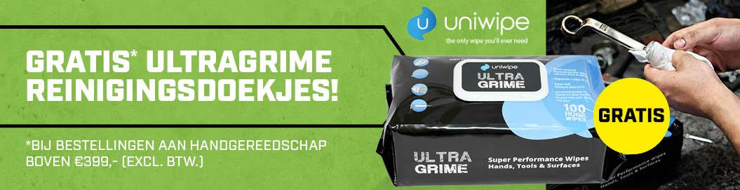 Gratis ultragrime reinigingsdoekjes!