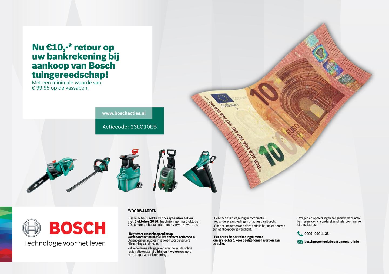 Voorwaarden Bosch actie t/m 5 oktober